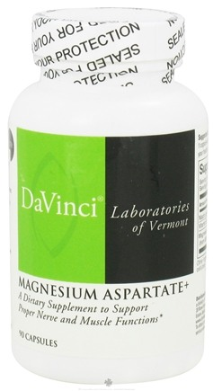 DROPPED: DaVinci Laboratories - Magnesium Aspartate + - 90 Capsules CLEARANCE PRICED