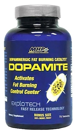 DROPPED: MHP - Dopamite Dopaminergic Fat Burning Catalyst - Bonus Size 20% More Free - 72 Tablets