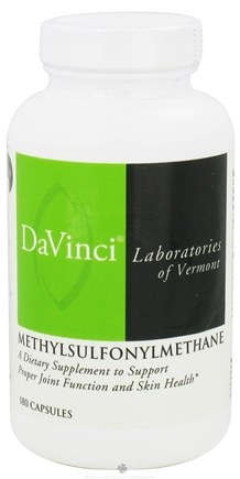 DROPPED: DaVinci Laboratories - Methylsulfonylmethane 500 mg. - 180 Capsules CLEARANCE PRICED