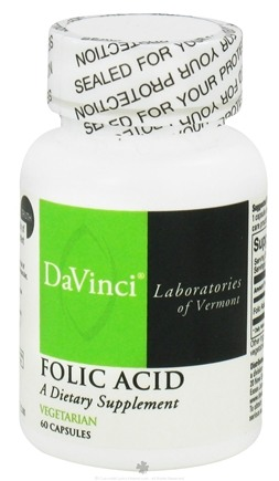DROPPED: DaVinci Laboratories - Folic Acid 800 mg. - 60 Vegetarian Capsules CLEARANCE PRICED