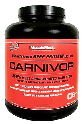 DROPPED: MuscleMeds - Carnivor Bioengineered Beef Protein Isolate Cherry Vanilla - 4.32 lbs.