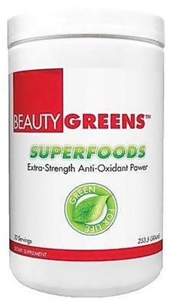 DROPPED: BeautyFit - BeautyGreens Superfoods - 30 Servings - 253.5 Grams CLEARANCE PRICED
