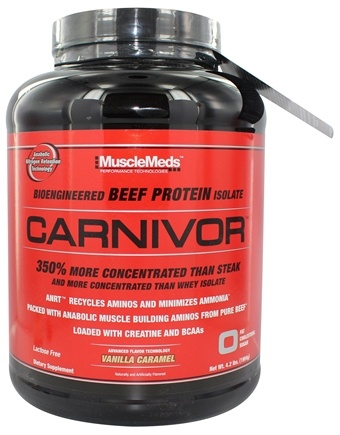 MuscleMeds - Carnivor Bioengineered Beef Protein Isolate Vanilla Caramel - 4.2 lbs.