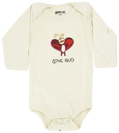 DROPPED: Kee-Ka - 100% Organic Cotton Long Sleeve BodySuit With Wearable Greetings Gift Box Love Bug 3-6 Months - CLEARANCE PRICED