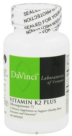DROPPED: DaVinci Laboratories - Vitamin K2 Plus - 60 Capsules CLEARANCE PRICED