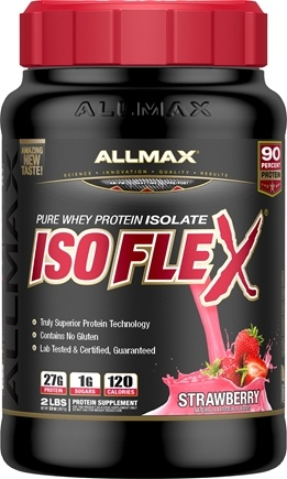 DROPPED: AllMax Nutrition - Isoflex Whey Protein Isolate Strawberry - 2 lbs. CLEARANCE PRICED