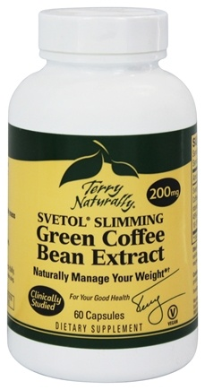 DROPPED: EuroPharma - Terry Naturally Svetol Slimming Green Coffee Bean Extract 200 mg. - 60 Capsules