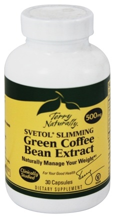 DROPPED: EuroPharma - Terry Naturally Svetol Slimming Green Coffee Bean Extract 500 mg. - 30 Capsules