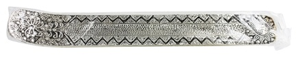 Triloka - Recycled Metal Incense Holder Aluminum Embossed Full Sun - 10 in.