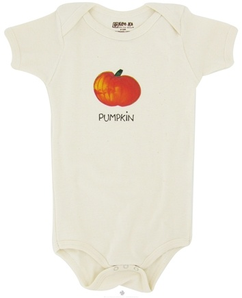 DROPPED: Kee-Ka - 100% Organic Cotton Short Sleeve BodySuit With Wearable Greetings Gift Box Pumpkin 6-12 Months - CLEARANCE PRICED