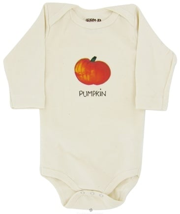 DROPPED: Kee-Ka - 100% Organic Cotton Long Sleeve BodySuit With Wearable Greetings Gift Box Pumpkin 3-6 Months - CLEARANCE PRICED