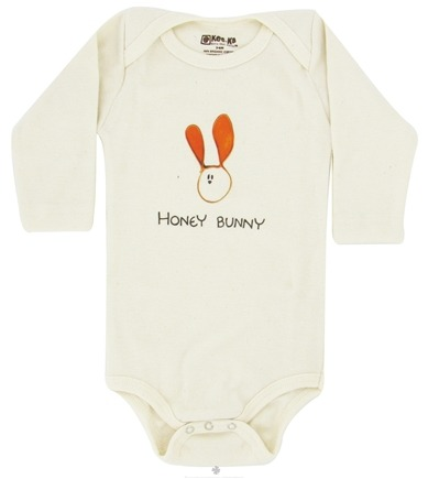DROPPED: Kee-Ka - 100% Organic Cotton Long Sleeve BodySuit With Wearable Greetings Gift Box Honey Bunny 3-6 Months - CLEARANCE PRICED