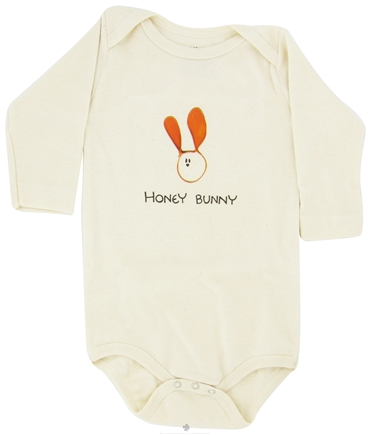 DROPPED: Kee-Ka - 100% Organic Cotton Long Sleeve BodySuit With Wearable Greetings Gift Box Honey Bunny 6-12 Months - CLEARANCE PRICED