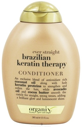 DROPPED: Organix - Conditioner Ever Straight Brazilian Keratin Therapy - 13 oz. CLEARANCE PRICED