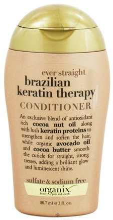 DROPPED: Organix - Conditioner Ever Straight Brazilian Keratin Therapy - 3 oz.