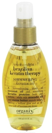 DROPPED: Organix - Shimmering Keratin Oil Ever Straight Brazilian Keratin Therapy - 4 oz.