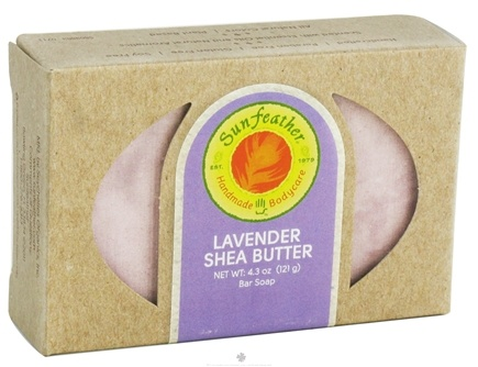 DROPPED: Sunfeather - Bar Soap Lavender Shea Butter - 4.3 oz. CLEARANCE PRICED