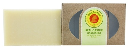 Sunfeather - Bar Soap Real Castile Unscented - 4.3 oz. CLEARANCE PRICED