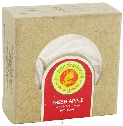 DROPPED: Sunfeather - Bath Bomb Fresh Apple - 7 oz. CLEARANCE PRICED