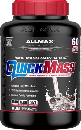 DROPPED: AllMax Nutrition - Quick Mass Loaded Rapid Mass Gain Catalyst Cookies & Cream - 6 lbs. CLEARANCE PRICED