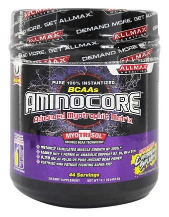 DROPPED: AllMax Nutrition - Aminocore BCAA Powder Advanced Myotrophic Matrix Caribbean Splash - 400 Grams