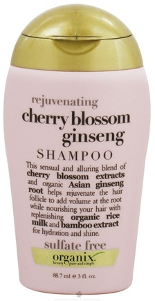 DROPPED: Organix - Shampoo Rejuvenating Cherry Blossom Ginseng - 3 oz. CLEARANCE PRICED