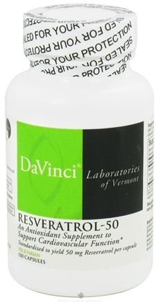 DROPPED: DaVinci Laboratories - Resveratrol-50 - 120 Vegetarian Capsules CLEARANCE PRICED