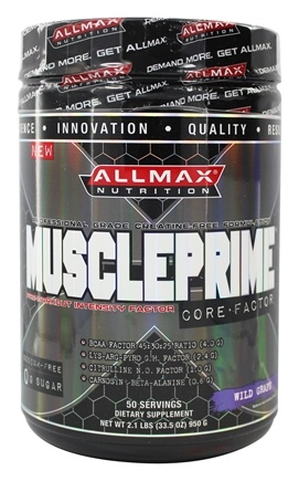 DROPPED: AllMax Nutrition - Muscle Prime Core Factor Pre-Workout Intensity Factor Wild Grape - 2.1 lbs.