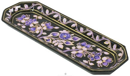 DROPPED: Triloka - Handpainted Incense Holder Purple Passion Tray - 9 in.