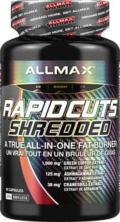 DROPPED: AllMax Nutrition - Rapidcuts Shredded Rapid Fat Burning Catalyst - 90 Capsules CLEARANCE PRICED