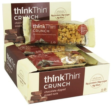 DROPPED: Think Products - thinkThin Crunch Bar Chocolate Dipped Mixed Nuts - 1.41 oz.
