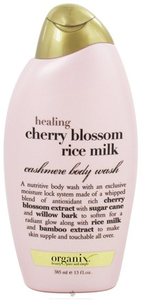 DROPPED: Organix - Cashmere Body Wash Healing Cherry Blossom Rice Milk - 13 oz.