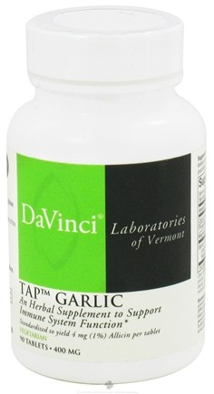 DROPPED: DaVinci Laboratories - TAP Garlic 400 mg. - 90 Vegetarian Tablets CLEARANCE PRICED