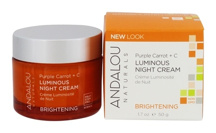 Andalou Naturals - Luminous Night Cream Brightening Purple Carrot + C - 1.7 oz.