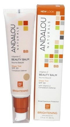 Andalou Naturals - Brightening All in One Beauty Balm Sheer Tint with 30 SPF - 2 oz.