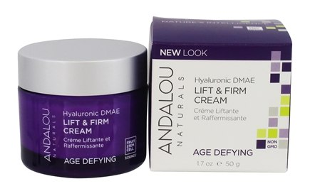 Andalou Naturals - Lift & Firm Cream Age Defying Hyaluronic DMAE - 1.7 oz.