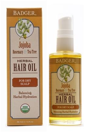 Badger - Hair Oil Herbal For Dry Scalp - 2 oz.