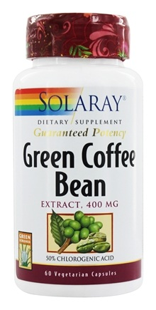 Solaray - Green Coffee Bean Extract 400 mg. - 60 Vegetarian Capsules