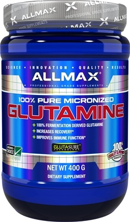 DROPPED: AllMax Nutrition - Glutamine Powder - 400 Grams CLEARANCE PRICED