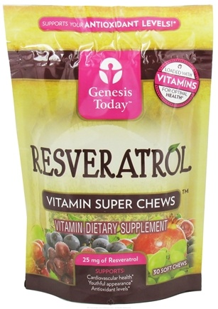 DROPPED: Genesis Today - Resveratrol Vitamin Super Chews 25 mg. - 30 Soft Chews