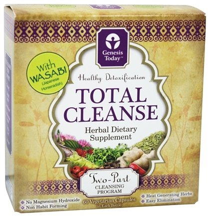 DROPPED: Genesis Today - Total Cleanse Two-Part Cleansing System - 60 + 60 Vegetarian Capsules