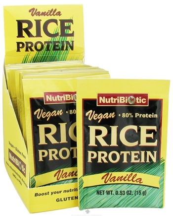 DROPPED: Nutribiotic - Vegan Rice Protein Vanilla - 12 Packet(s)