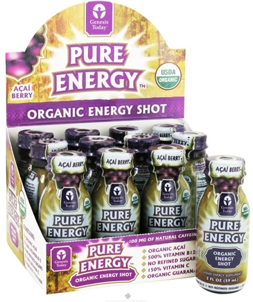 DROPPED: Genesis Today - Pure Energy Organic Energy Shot Acai Berry - 2 oz.