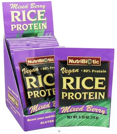 DROPPED: Nutribiotic - Vegan Rice Protein Mixed Berry - 12 Packet(s) CLEARANCE PRICED