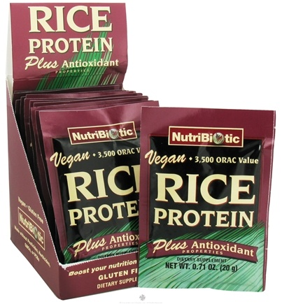 DROPPED: Nutribiotic - Vegan Rice Protein Plus Antioxidant Properties - 12 Packet(s)