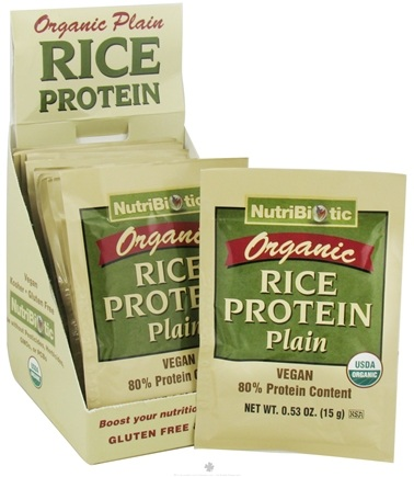 DROPPED: Nutribiotic - Organic Rice Protein Plain - 12 Packet(s)