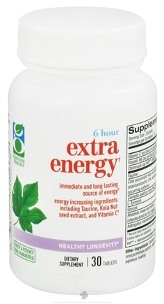 DROPPED: Genuine Health - 6 Hour Extra Energy - 30 Tablets CLEARANCE PRICED