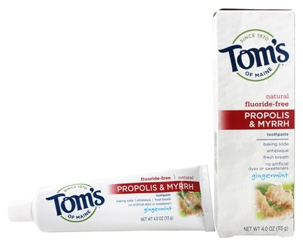 DROPPED: Tom's of Maine - Natural Toothpaste Propolis & Myrrh Fluoride-Free Gingermint - 4 oz.