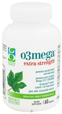 DROPPED: Genuine Health - o3mega Extra Strength - 60 Softgels CLEARANCE PRICED