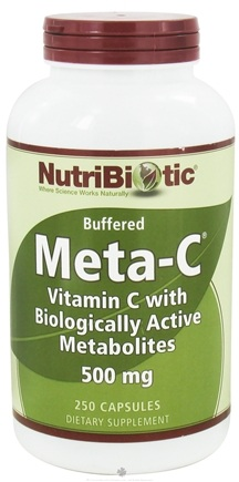 DROPPED: Nutribiotic - Meta-C Buffered Vitamin C with Biologically Active Metabolites 500 mg. - 250 Capsules CLEARANCE PRICED